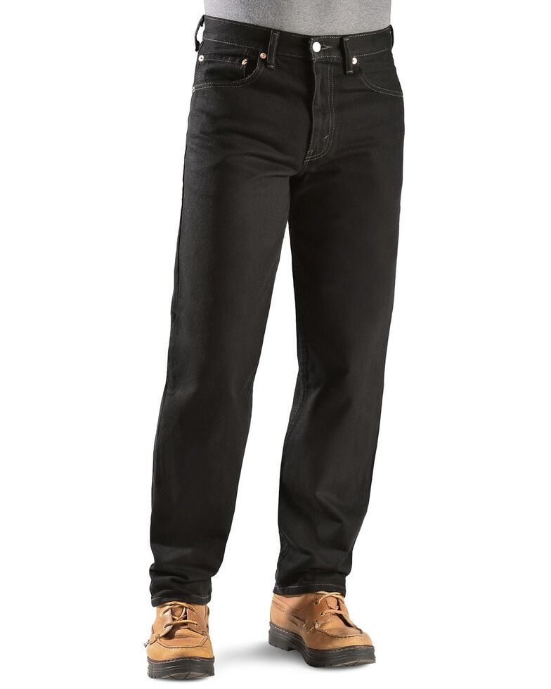 Levi's Men's 550 Prewashed Relaxed Tapered Leg Jeans , Black Out, hi-res