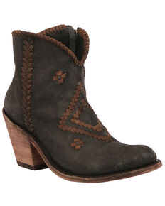 Liberty Black Women's Vegas Black Fashion Booties - Round Toe, Black, hi-res