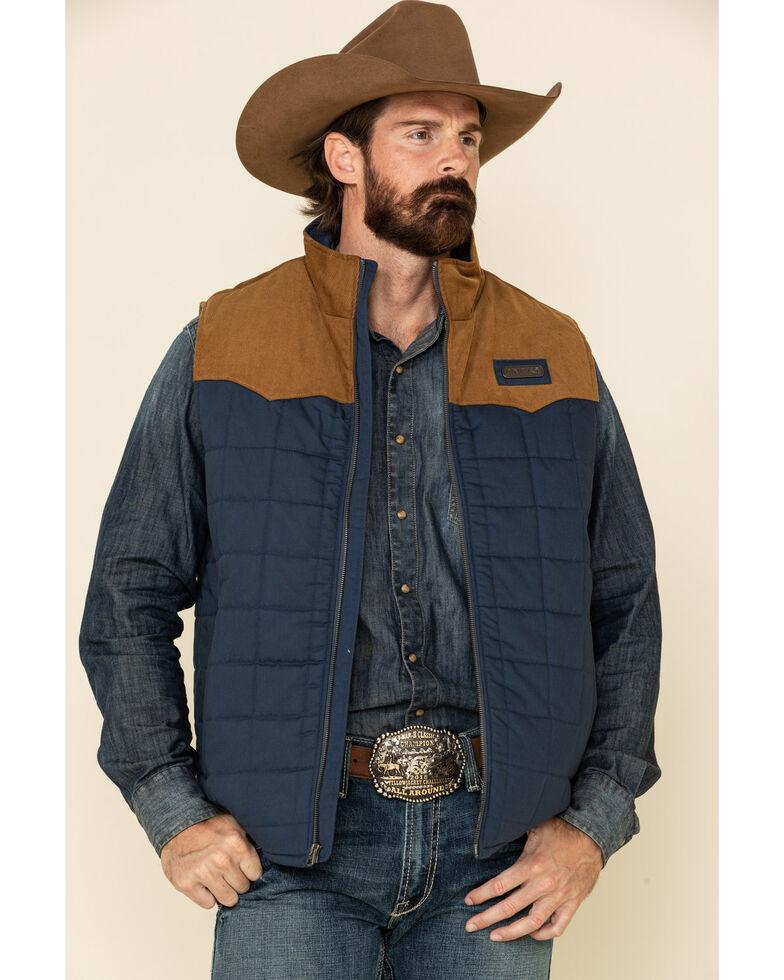 Cinch Men's Blue Quilted Polyfill Puffer Vest - Big , Blue, hi-res