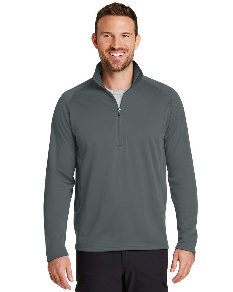 Eddie Bauer Men's Iron Grey 3X Smooth Fleece Base Layer 1/2 Zip Pullover Sweatshirt - Big , Grey, hi-res