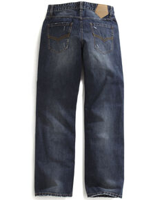 Tin Haul Men's Regular Joe Straight Leg Striped Lining Jeans, Denim, hi-res