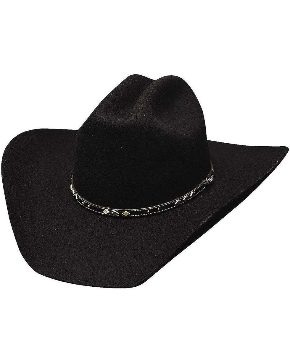 Bullhide Men's High Noon 7X Wool Hat, Black, hi-res