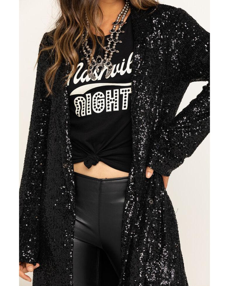 Show Me Your Mumu Women's Limelight Sequin Bazel Blazer Dress, Black, hi-res