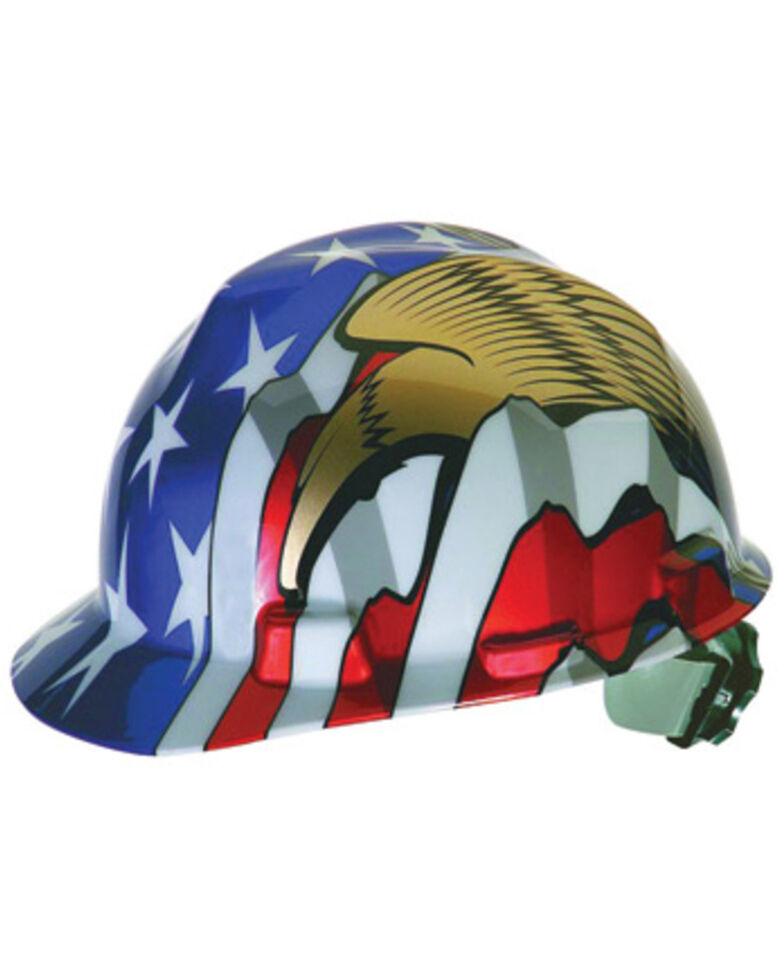 MSA Flag & Eagles Cap Style Work Hard Hat , Multi, hi-res