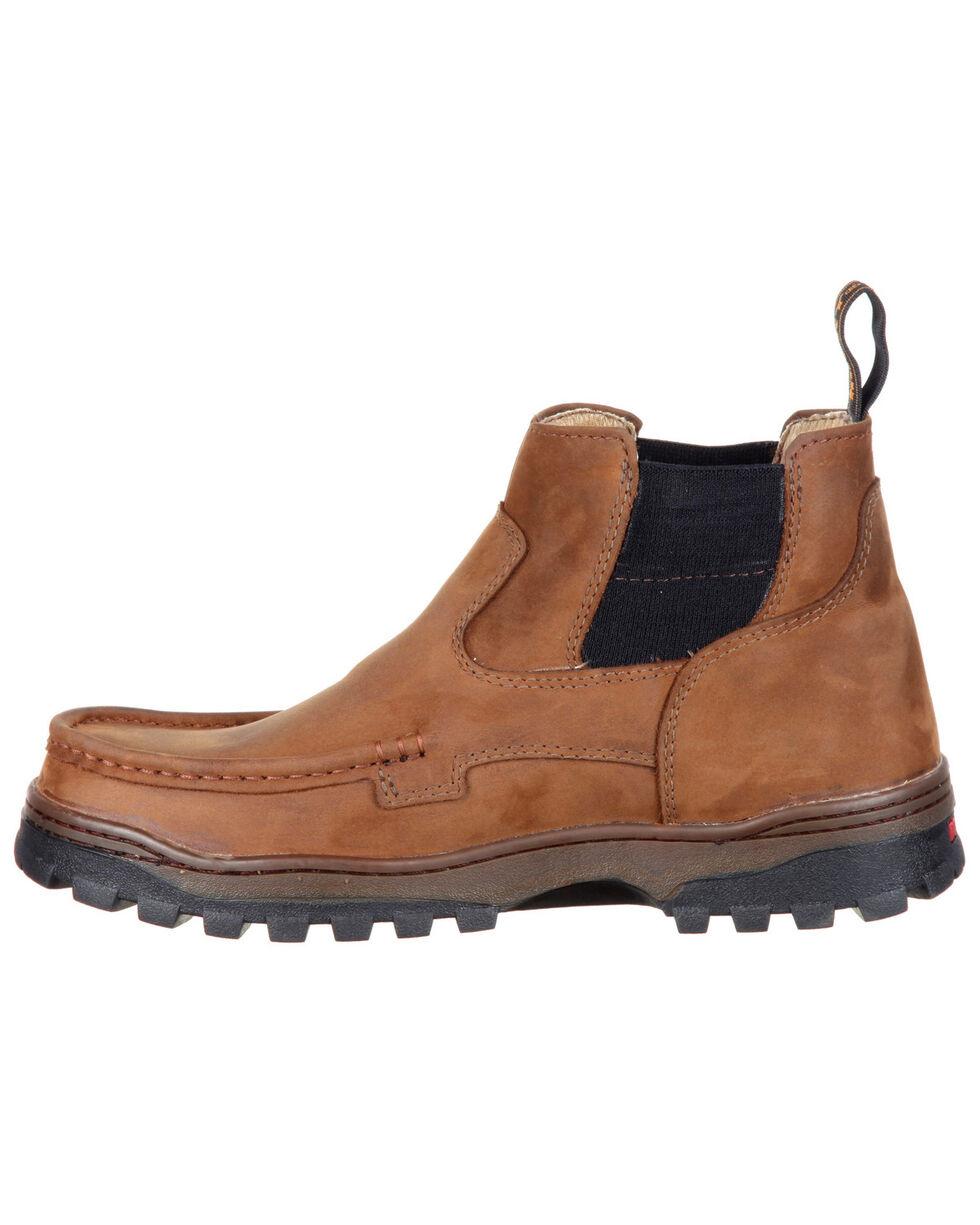Rocky Men's Outback Waterproof Hiker Boots - Moc Toe, Brown, hi-res