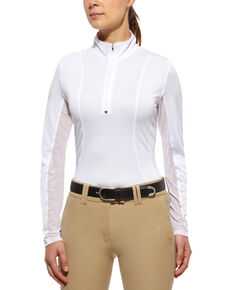 Ariat Sunstopper Zip Top, White, hi-res