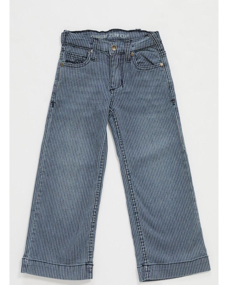 Cowgirl Tuff Girls' Medium Wash Conductor Multi Striped Trousers , Multi, hi-res