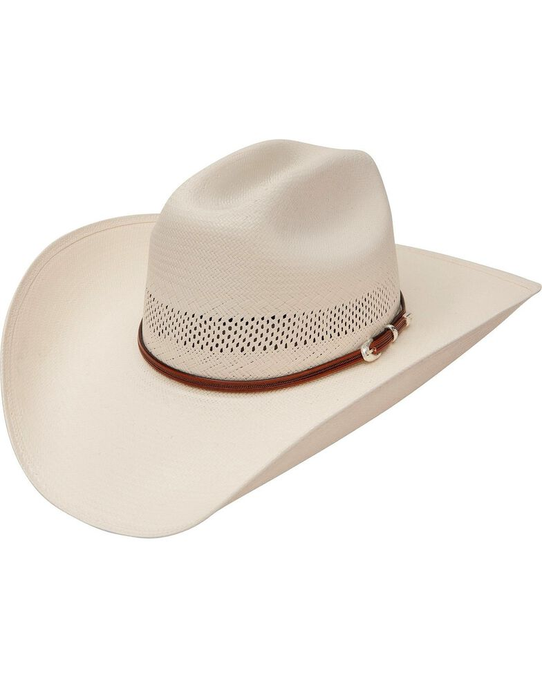 Stetson Rincon Vented 10X Straw Cowboy Hat, Natural, hi-res