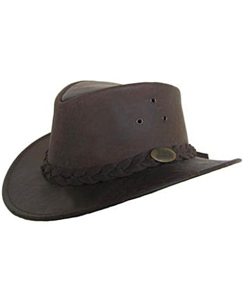 Jacaru Men's Gabba Stonewash Leather Hat, Stonewash, hi-res