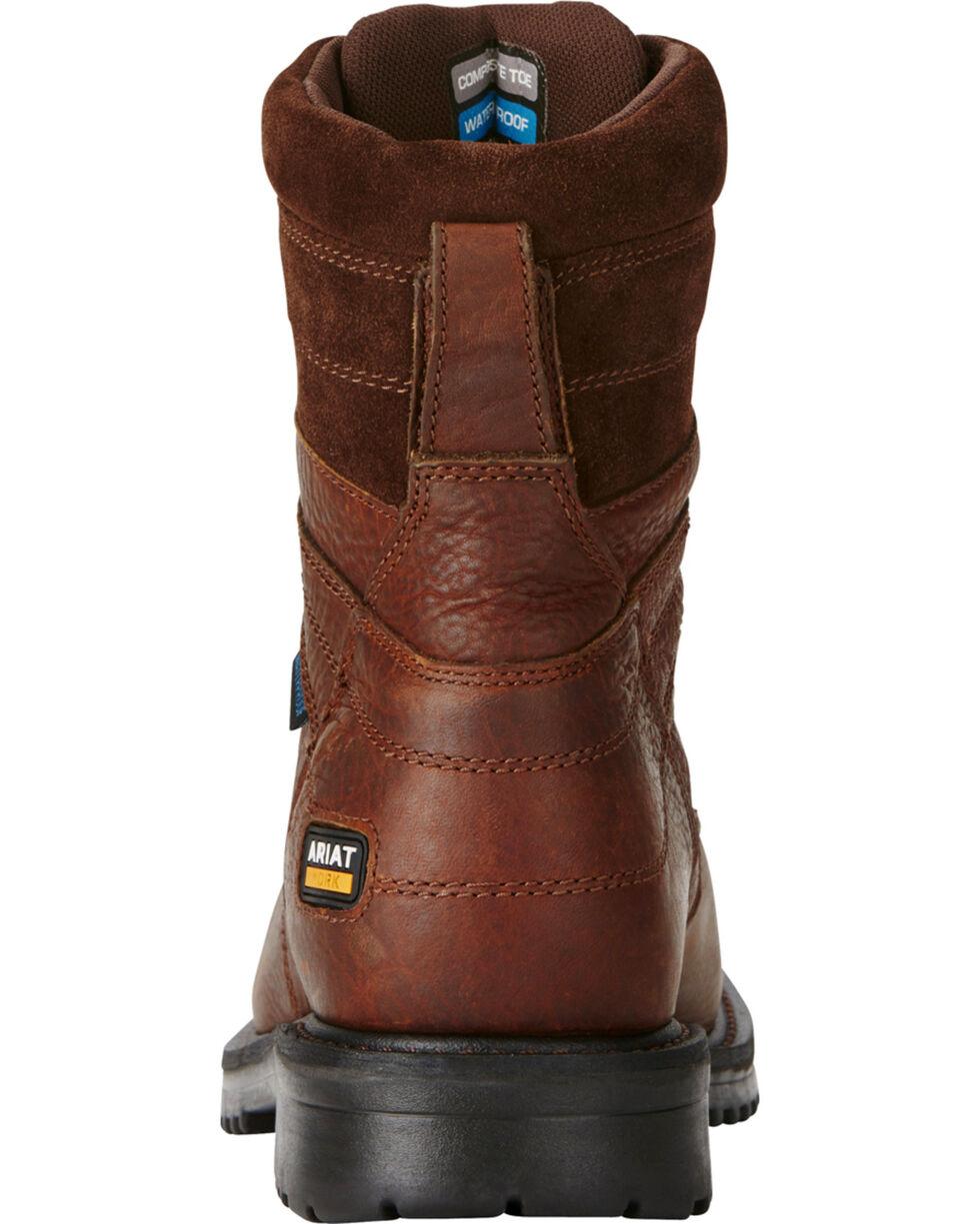 Ariat Men's RigTek® Waterproof  Work Boots, Brown, hi-res