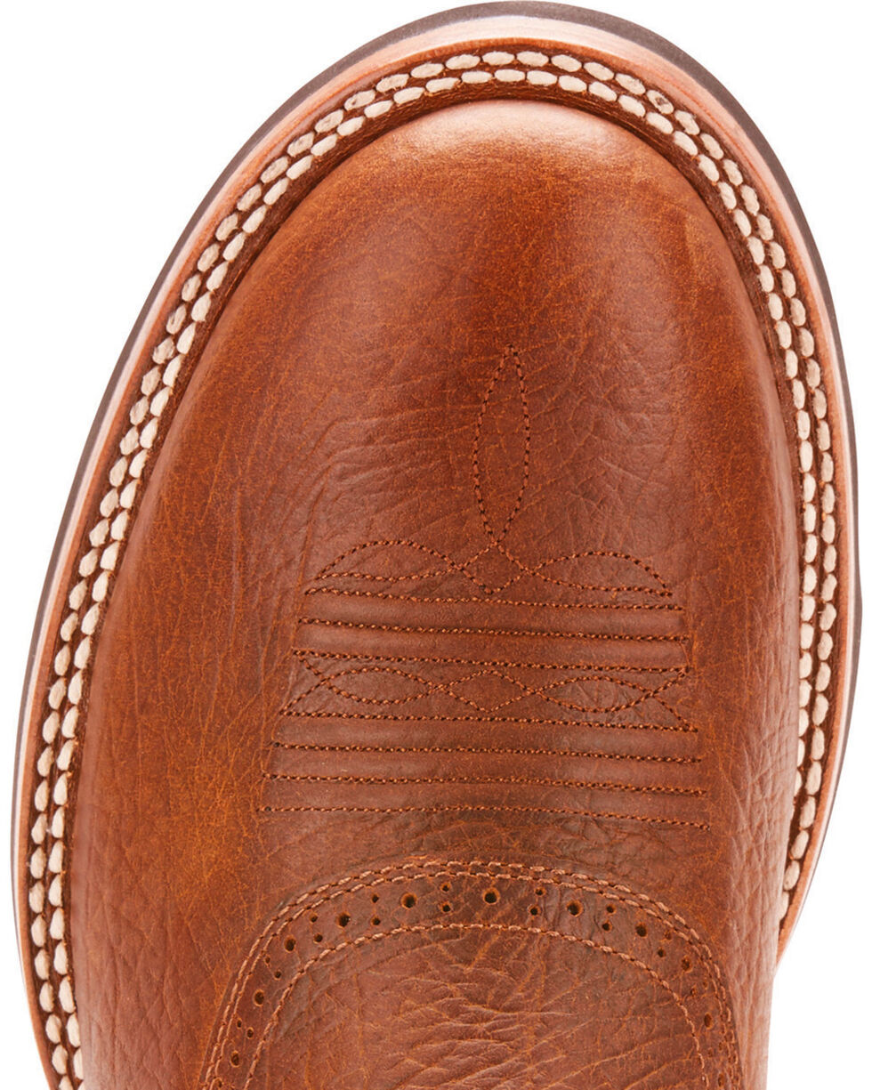 Ariat Men's Quantum Crepe Earth Cowboy Boots - Round Toe, Tan, hi-res