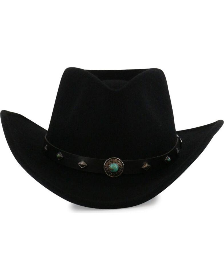 Cody James Men's Santa Ana Black Wool Felt Hat, Black, hi-res