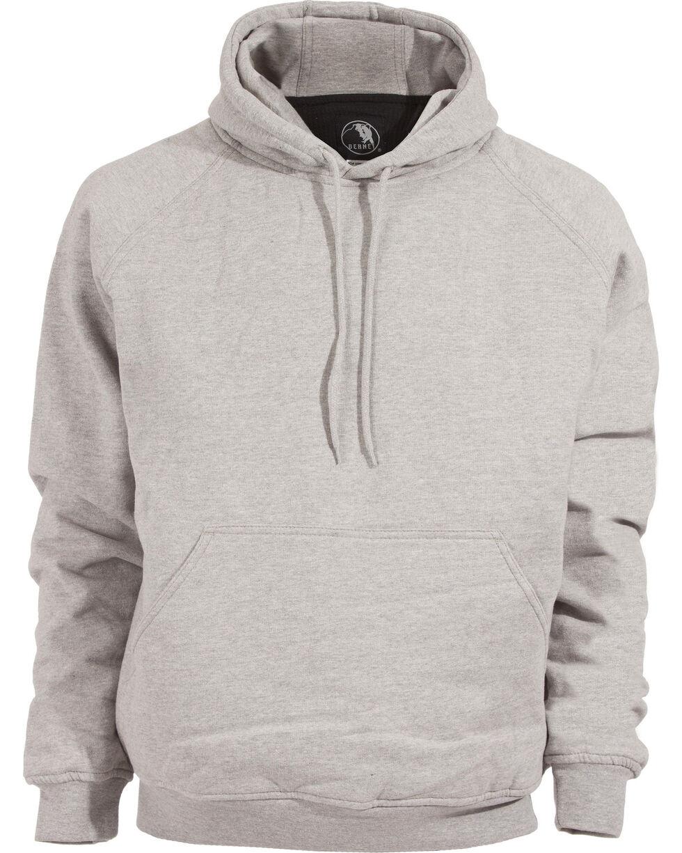 Berne Original Fleece Hooded Pullover, Grey, hi-res
