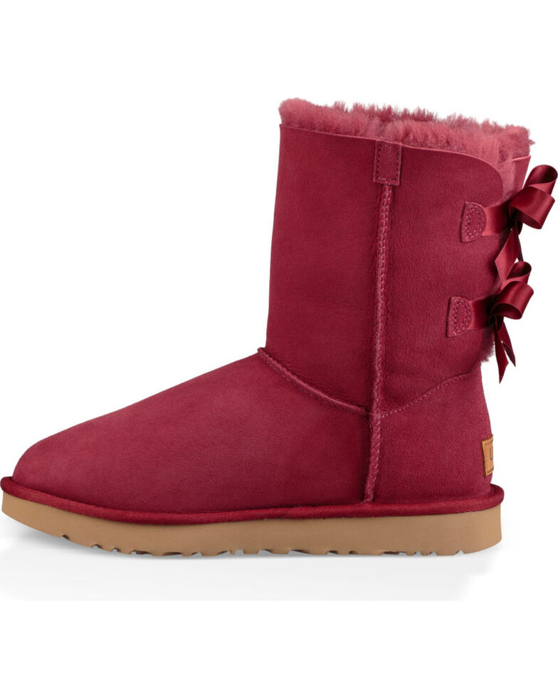 7abbcf2e86b UGG Women's Rose Bailey Bow II Boots - Round Toe