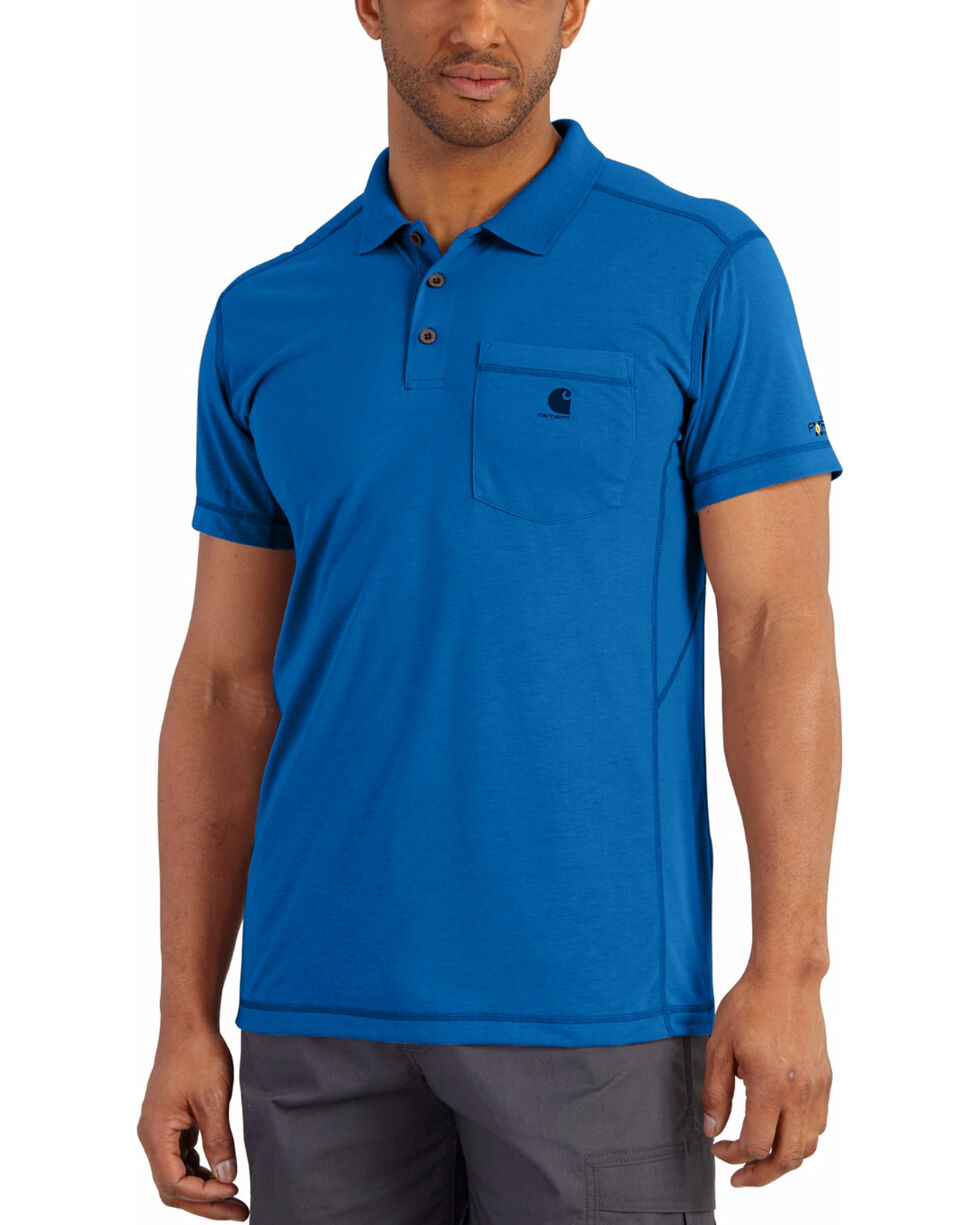 Carhartt Men's Force Extremes™ Polo Work Shirt, Blue, hi-res