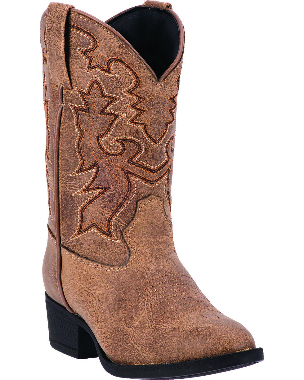 Laredo Children's Hoss Western Boots, Taupe, hi-res