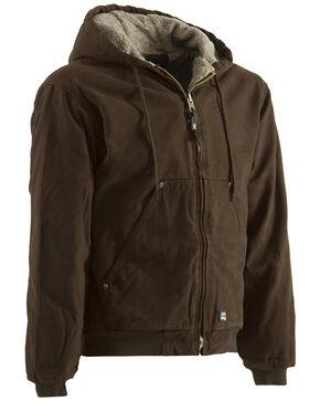 Berne Washed Hooded Work Coat - XLT and 2XT, Bark, hi-res