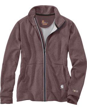 Carhartt Women's Force Extremes Zip Front Sweatshirt Jacket, Heather Grey, hi-res