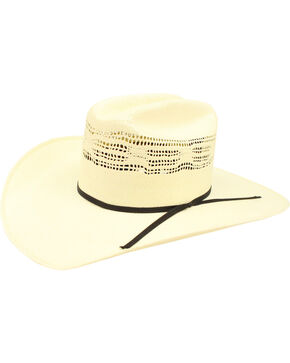 Ariat Men's Bangora Double S Straw Cowboy Hat , Natural, hi-res
