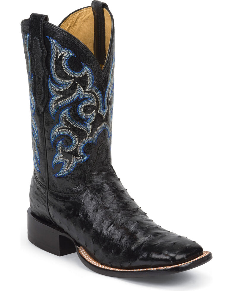 Justin Men S Truman Ostrich Exotic Boots Boot Barn