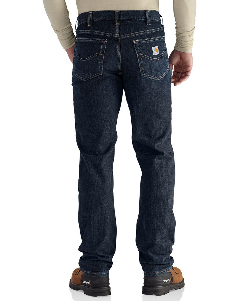 Carhartt Men's Flame Resistant RuggedFlex Traditional Fit Jeans - Big & Tall, Indigo, hi-res