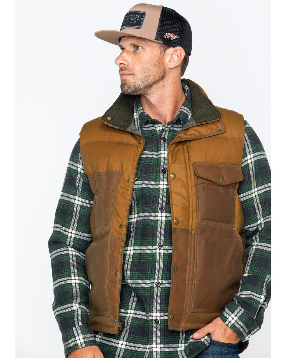 Filson Men's Down Cruiser Vest , Tan, hi-res