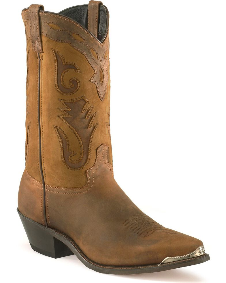 Sage Boots by Abilene Men's Two-Tone Cutout Western Boots, Brown, hi-res