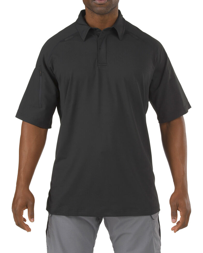 5.11 Tactical Rapid Performance Short Sleeve Polo Shirt - 3XL, Black, hi-res