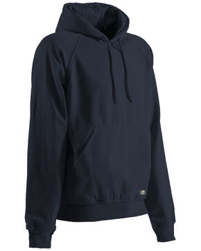 Berne Original Fleece Hooded Pullover - 3XL and 4XL, Navy, hi-res