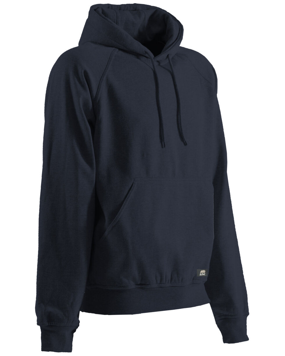 Berne Original Fleece Hooded Pullover - 3XL and 4XL, Navy, hi-res