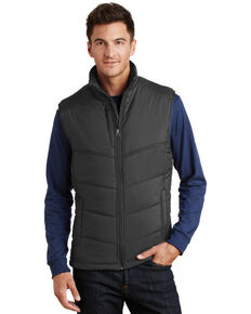 Port Authority Men's Slate Puffy Work Vest , Black, hi-res