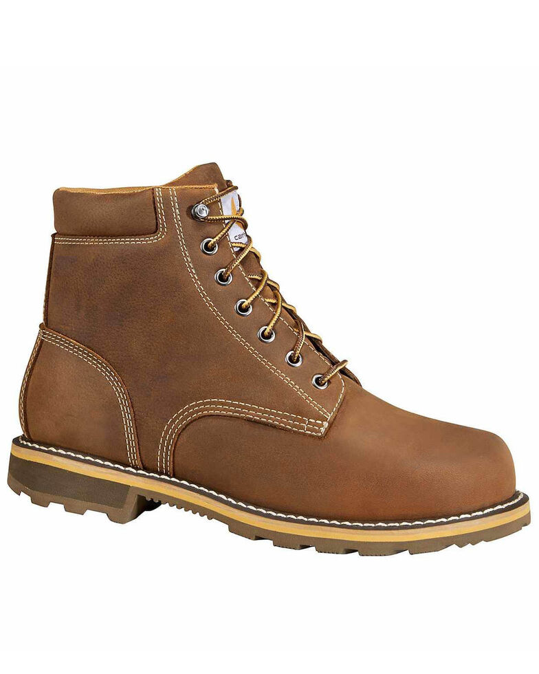 Carhartt Men's Non-Safety Waterproof Work Boots - Soft Toe, Brown, hi-res