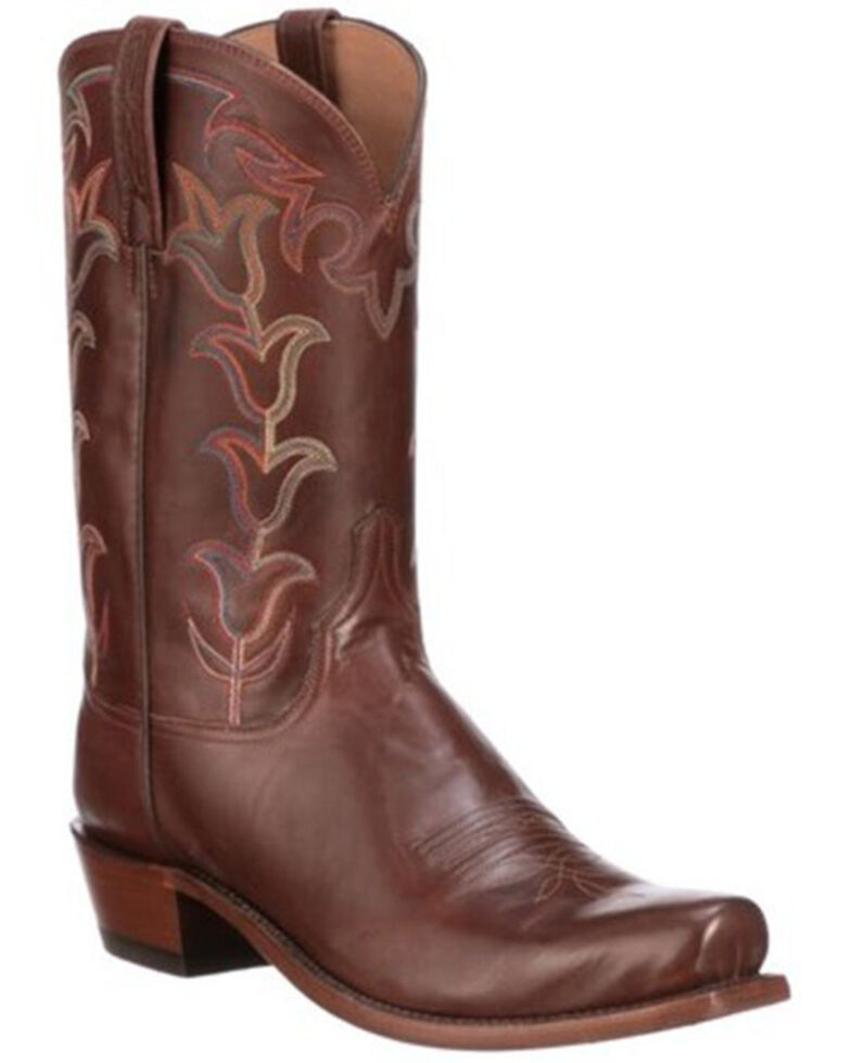 Lucchese Men's Tan Tulip Western Boots - Square Toe, Tan, hi-res