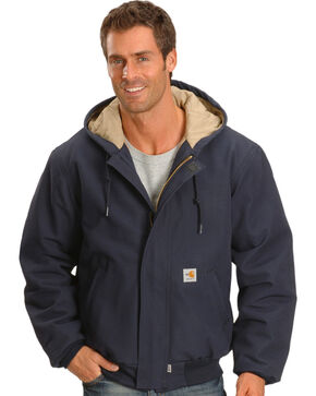 Carhartt Men's Flame-Resistant Duck Active Work Jackets, Navy, hi-res