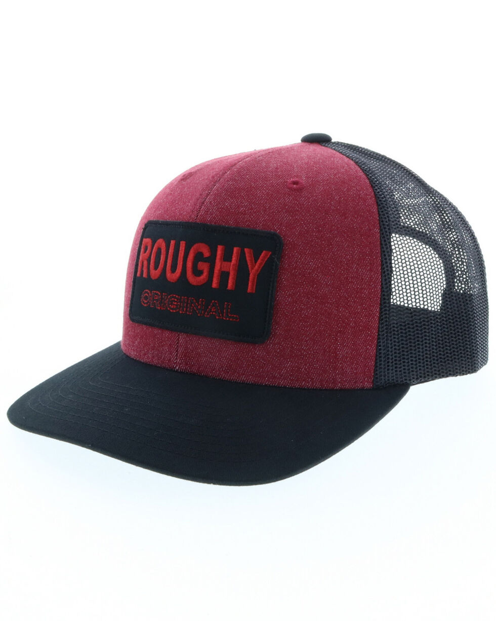 HOOey Men's Burgundy Roughy Original Trucker Cap, Burgundy, hi-res