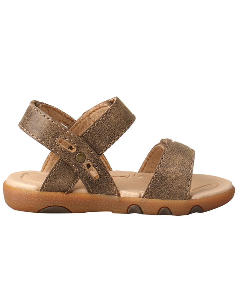 Twisted X Kids' Infant Sandal, Brown, hi-res