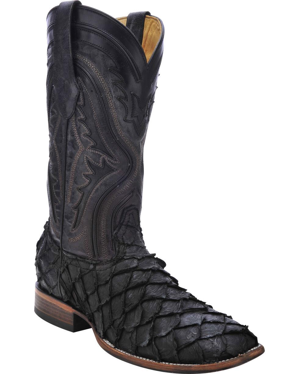 Corral Men's Pirarucu Exotic Boots, Black, hi-res