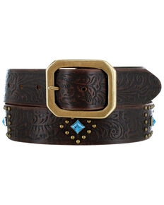 Justin Women's Frisco Creek Western Belt, Brown, hi-res