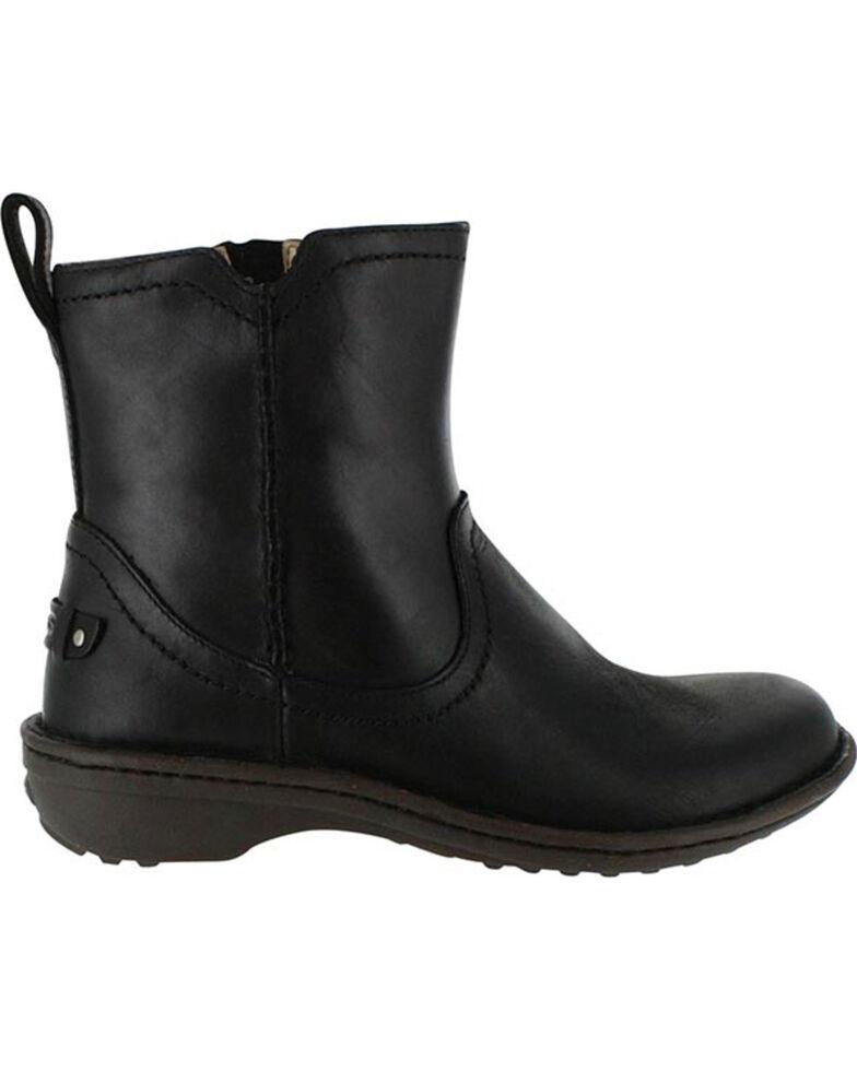 UGG Women's Black Neevah Short Boots - Round Toe , Black, hi-res