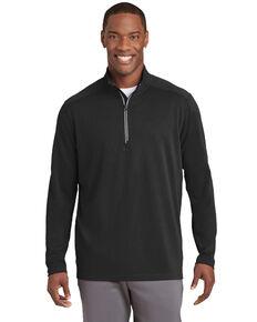 Sport Tek Men's Sport Wick Textured 1/4 Zip Pullover Work Sweatshirt , Black, hi-res