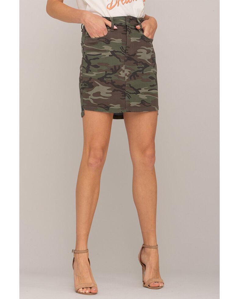 Miss Me Women's Camo Mini Skirt, , hi-res
