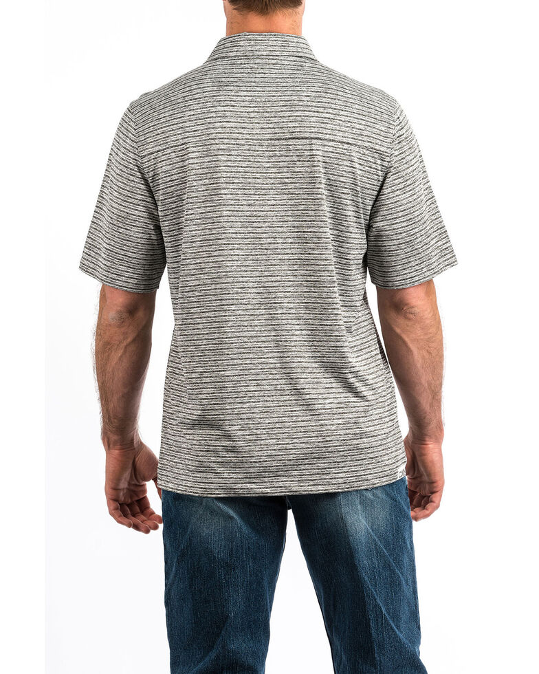 Cinch Men's Arena Flex Short Sleeve Polo Shirt , Heather Grey, hi-res