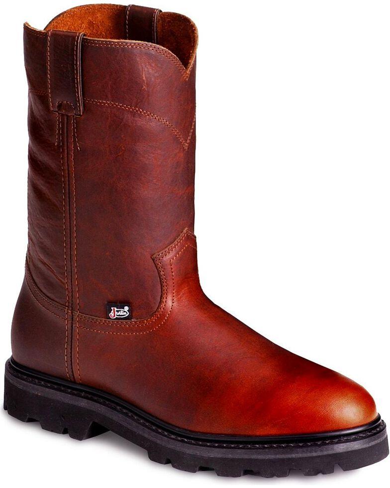 "Justin Men's 10"" JOW Work Boots, Tan, hi-res"