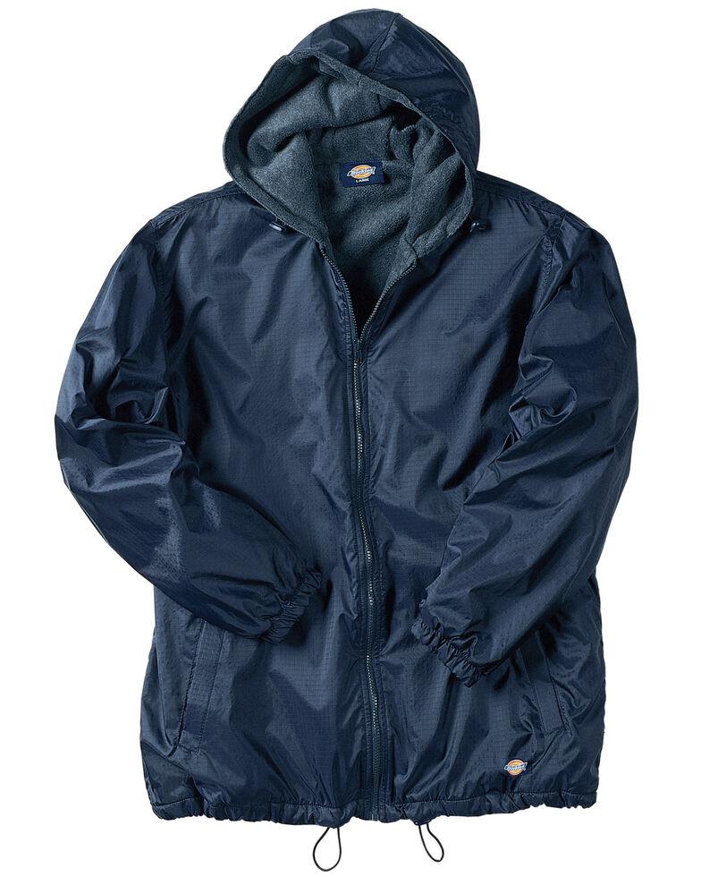 Dickies Men's Fleece Lined Hooded Work Jacket, Navy, hi-res