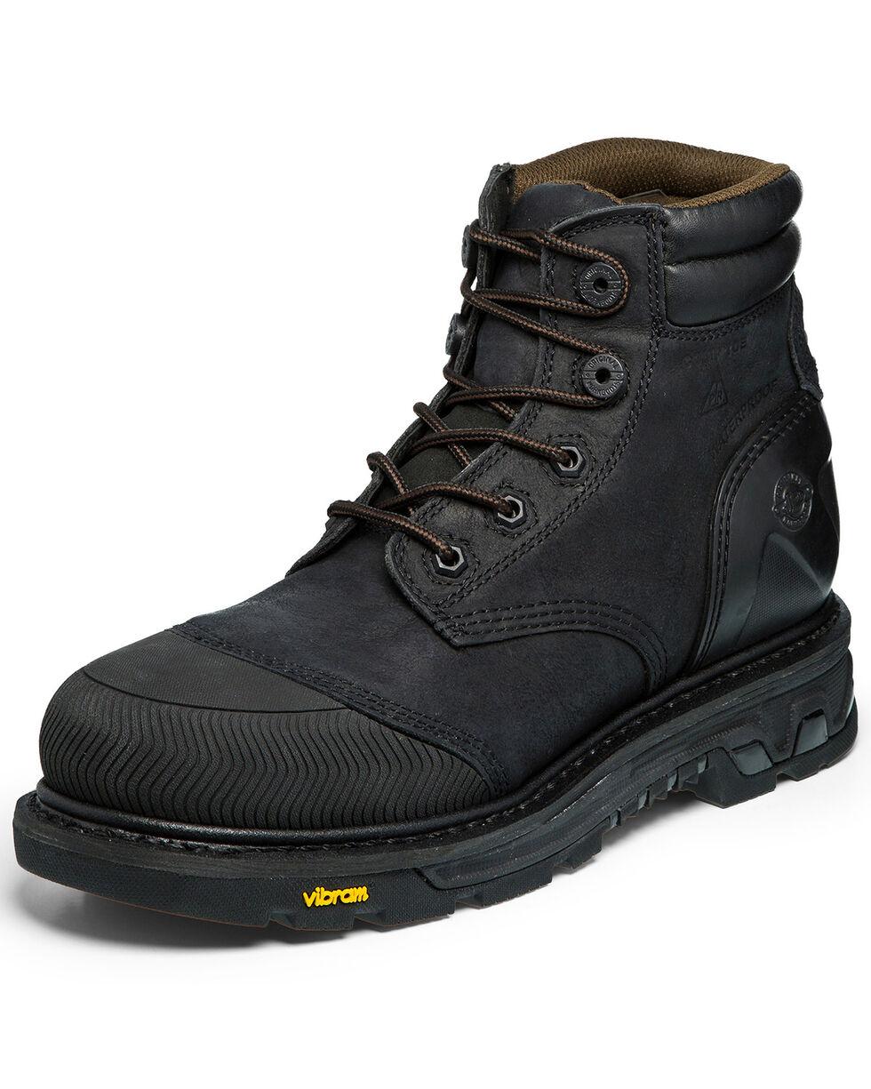 Justin Men's Warhawk Waterproof Lace-Up Work Boots - Composite Toe, Black, hi-res