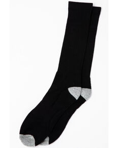 Cody James Men's 3-Pack Solid Boot Socks, Black, hi-res