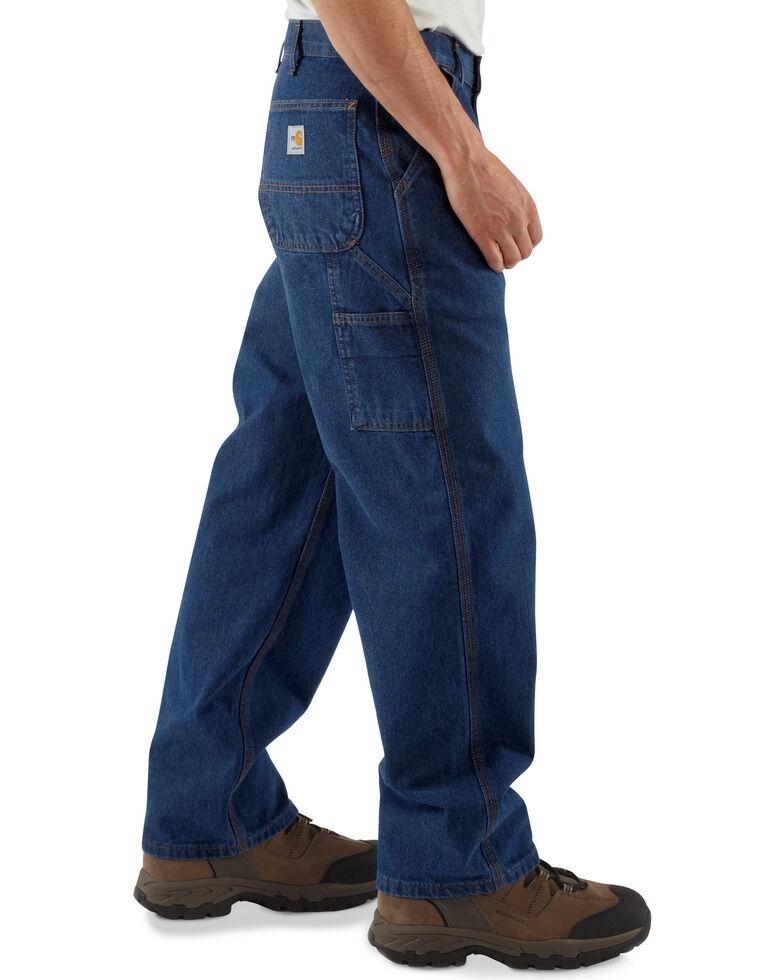 Carhartt Flame Resistant Signature Denim Dungaree Work Jeans - Big & Tall, Denim, hi-res