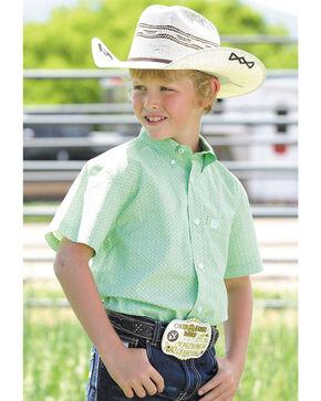 Cinch Boys' Light Green Button Down Shirt , Light Green, hi-res