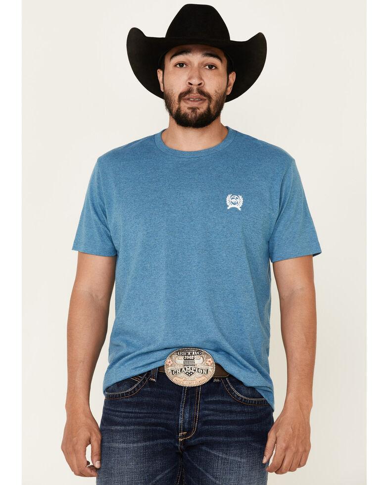 Cinch Men's Lead This Life Logo Graphic Short Sleeve T-Shirt , Blue, hi-res