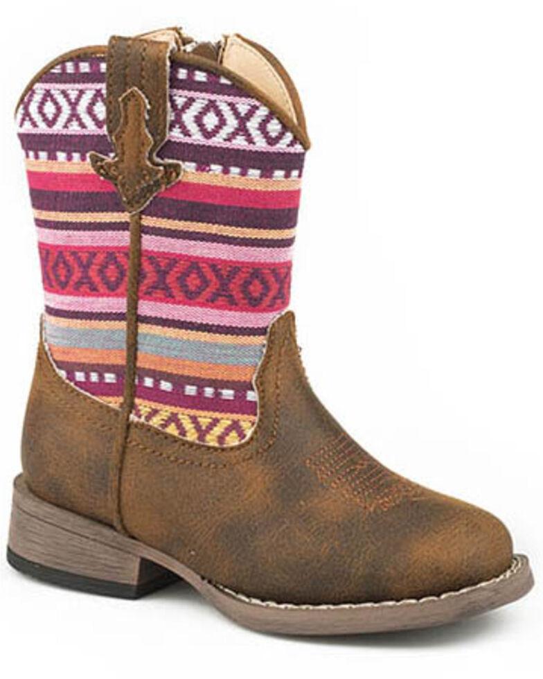 Roper Youth Boys' Tan XO Western Boots - Round Toe, Tan, hi-res
